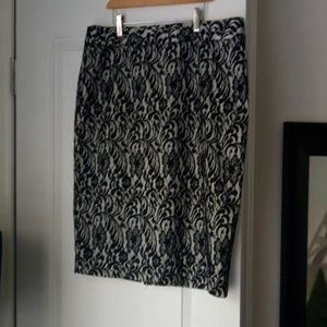 Beautiful black and white lace skirt